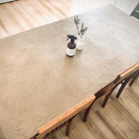 セナハ塗装意匠左官テーブル施工写真