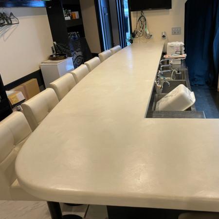セナハ塗装カウンターテーブル モールテックス仕様2